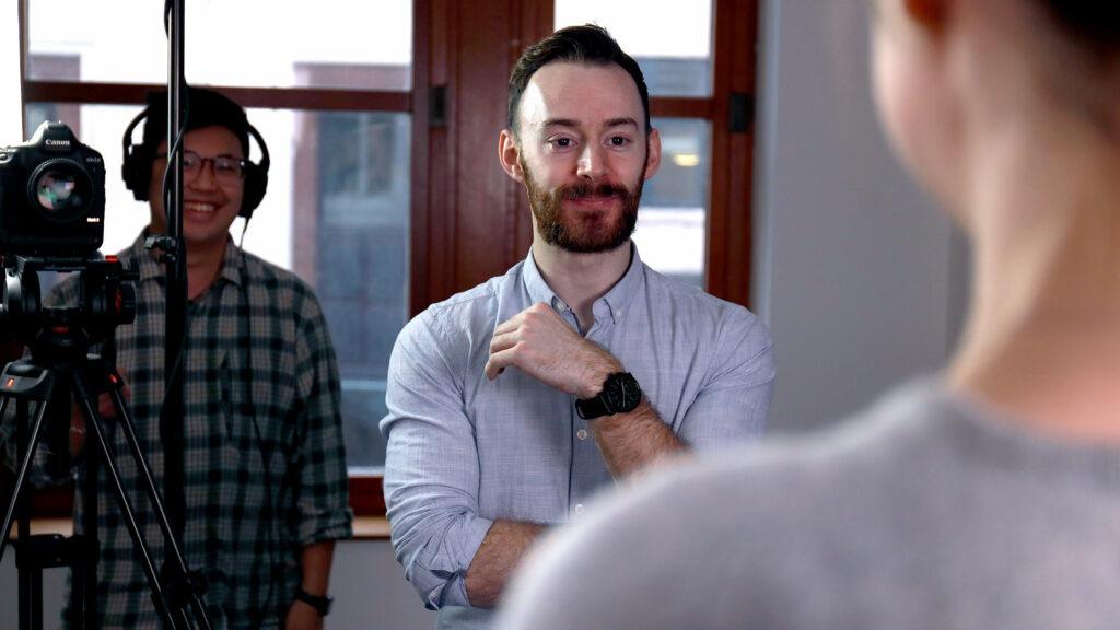 Ben Neeves directing a shoot