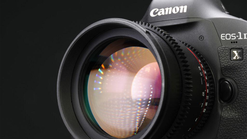 Macro image of a Canon camera