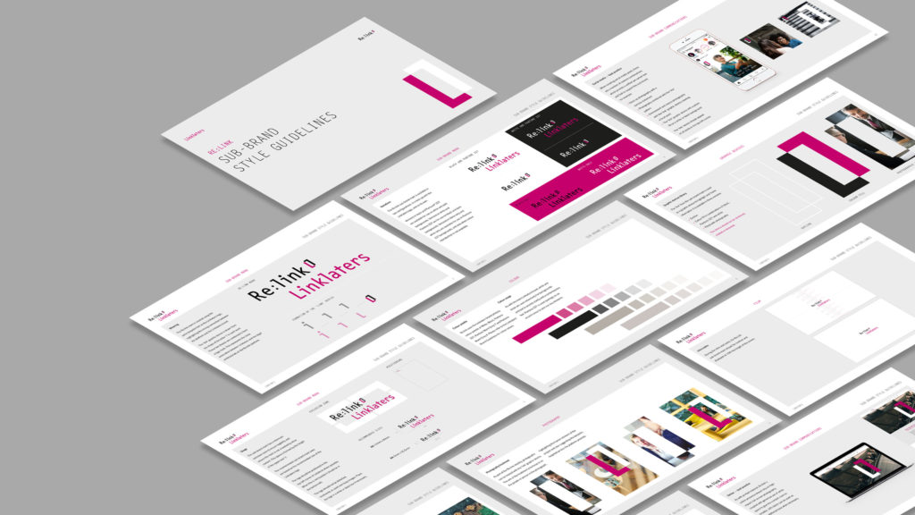 Linklaters Re:link brand guidelines