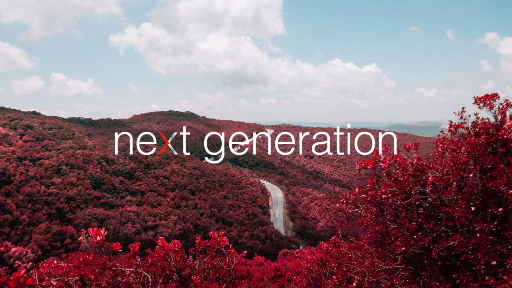 Prudential Next Generation mark over image of an autumn forest