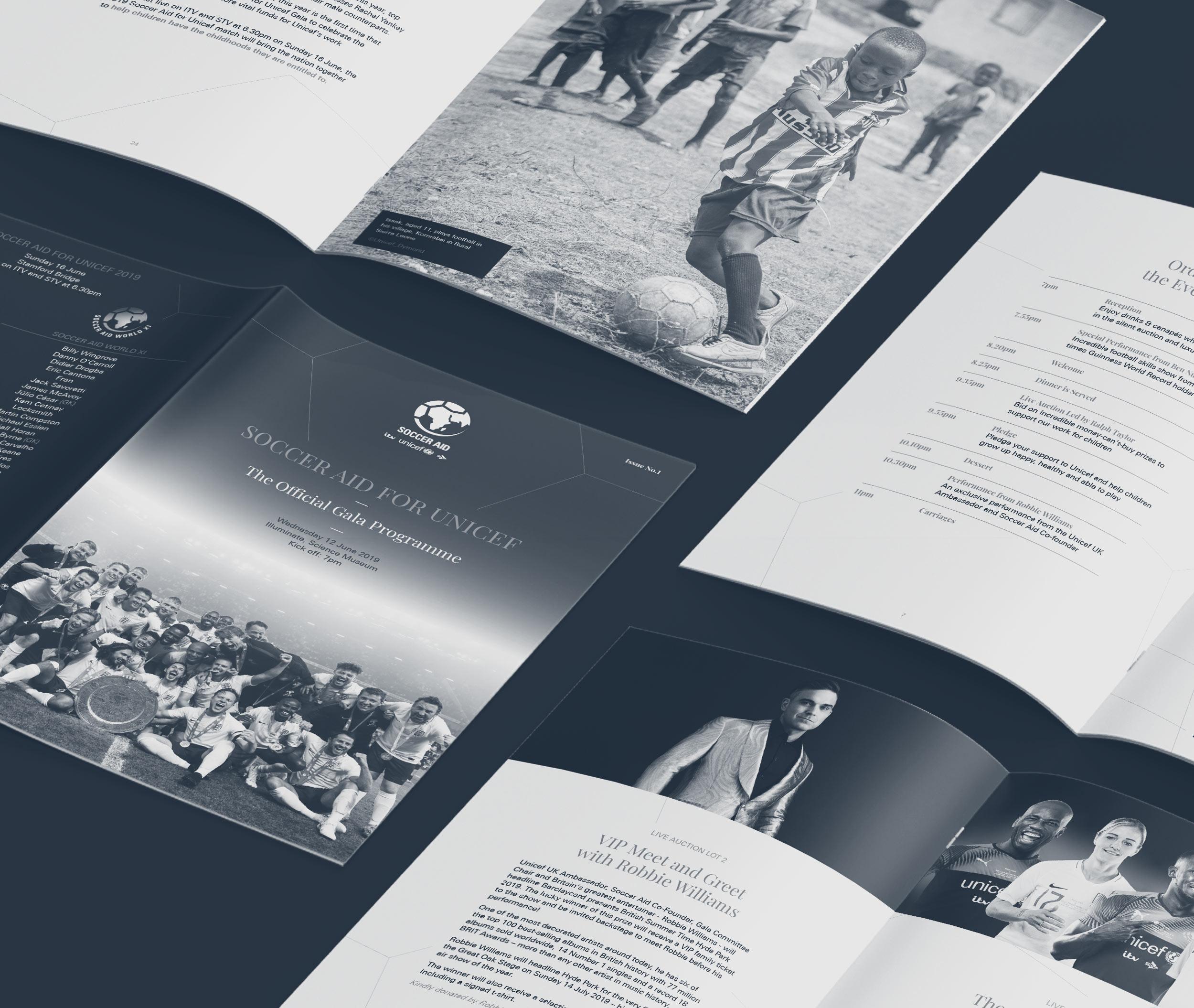 Unicef Soccer Aid gala programme