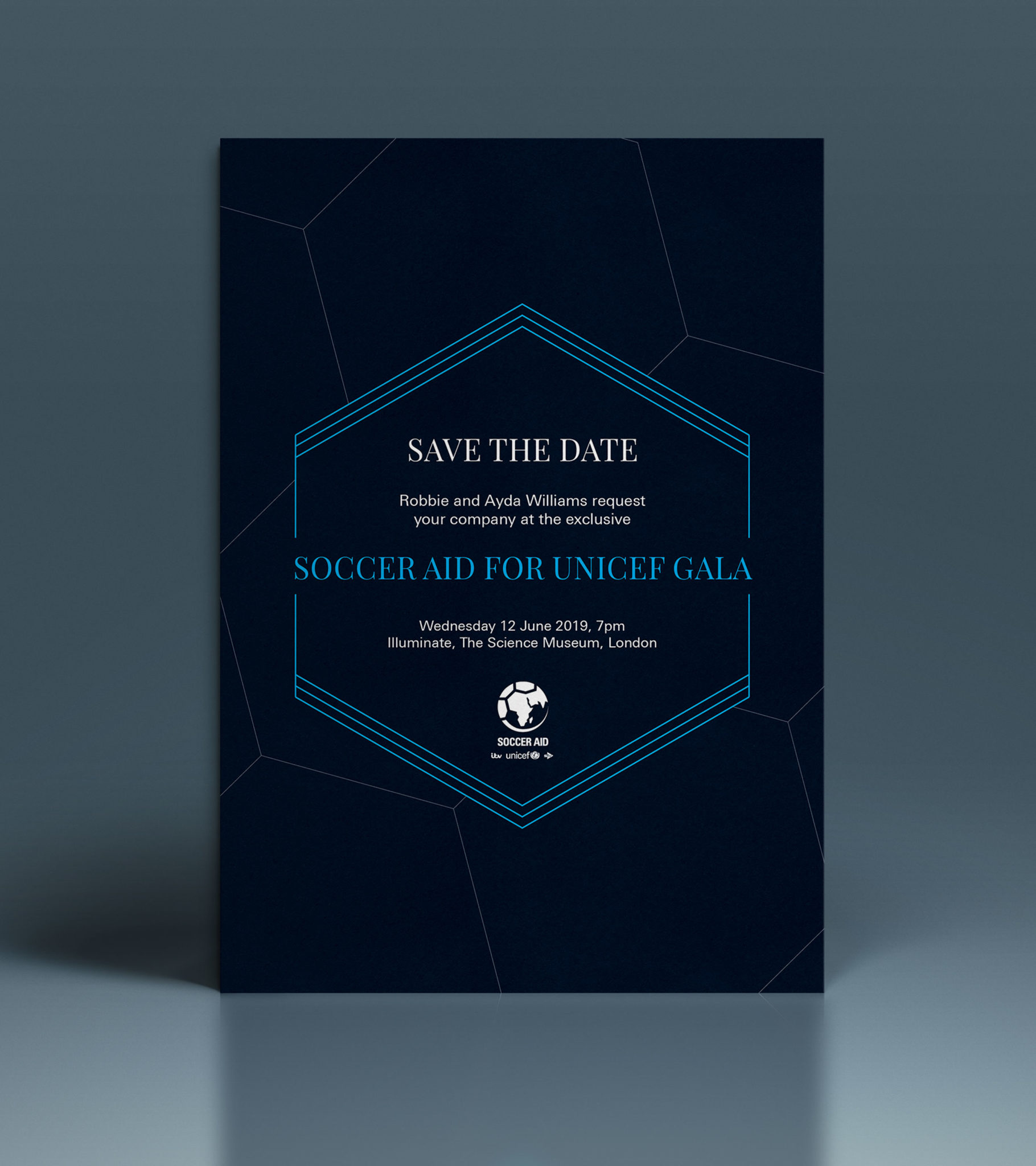Unicef Soccer Aid save the date document