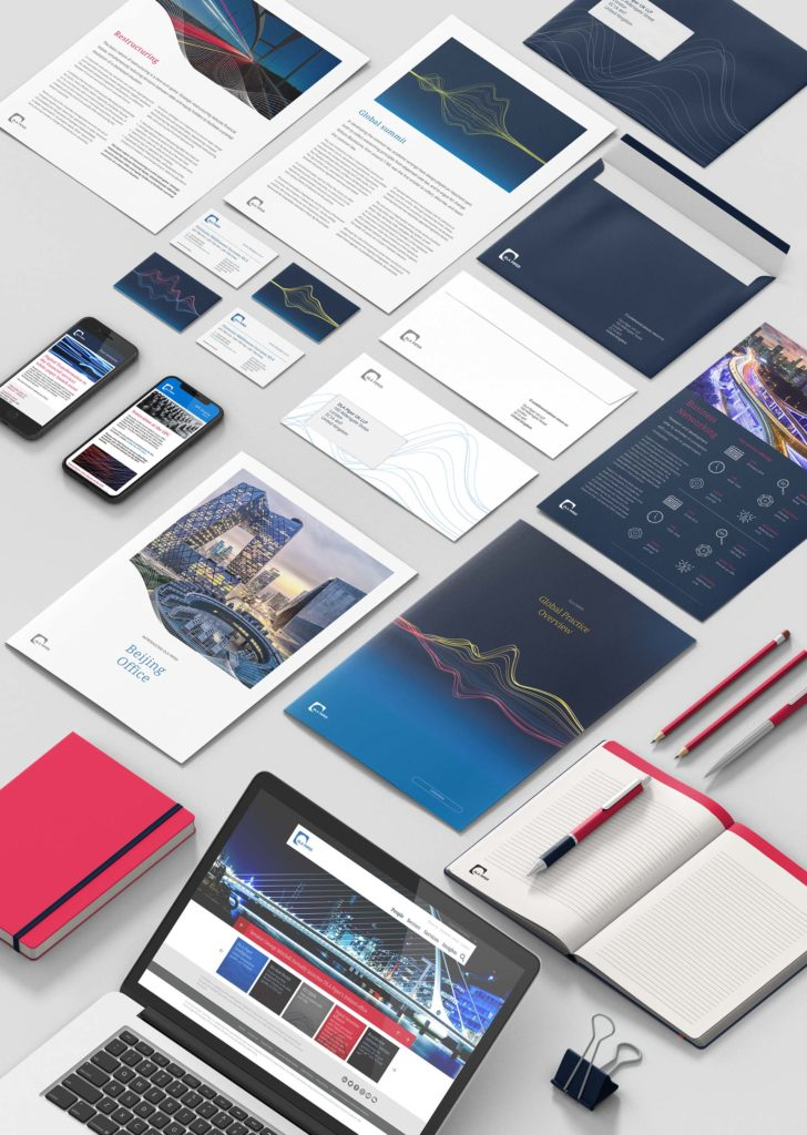 A selection of DLA Piper branded collateral
