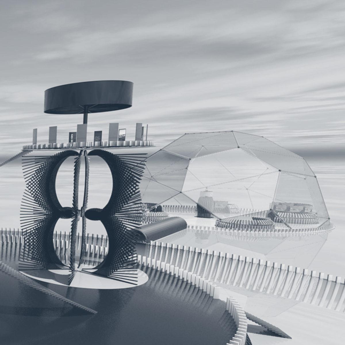 An overview shot of an Enter Agora environment